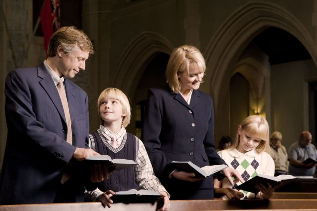 father son church service