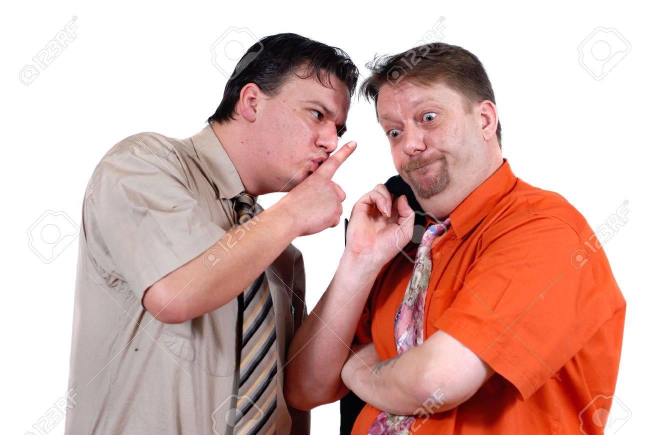 two men gossiping